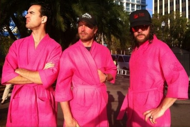 Dierks Bentley pink robes