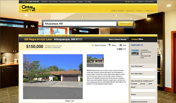 Century 21 listing for Breaking Bad House