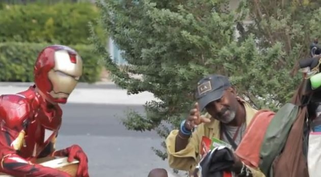 Iron Man With Homeless Man