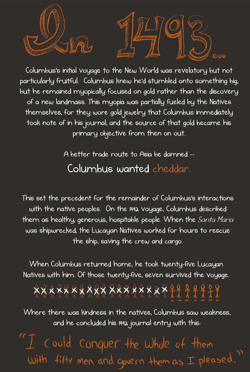 christopher columbus was a mass murdering sociopath and should not christopher columbus history source the oatmeal