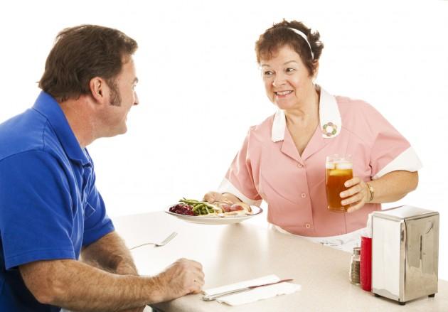 Waitress Serves Turkey Dinner - Restuarants Thanksgiving Wichita Falls